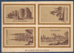 Chromo Au Dé D'argent Rouen Caumont Fils Maine Et Loire Château Cathédrale Angers Ponts De Cé Saumur - Vieux Papiers