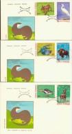 DV3-5a ROUMANIA 1980 FDC PHILEX 3705-3710 EUROPE CEPT FOLLOWER, EUROPEAN NATURE PROTECTION, ANIMALS, TIEREN, ANIMAUX. - 1980
