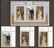 FAMILIAS REALES - NIUE 1986 - Yvert #492/94+H99 - MNH ** - Familias Reales
