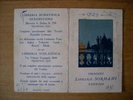 """Calendarietto/calendario """"Omaggio Librerie SORMANI - Venezia"""" 1929 - Calendari"""