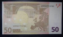 50 EURO J070B4 Italy Serie S Perfect UNC - EURO