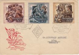 HUNGARIAN BATTLES, COVER FDC, 1953, HUNGARY - Otros