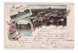 0-1500 POTSDAM, Lithographie, 3-Bild-Ansicht, 1897 - Potsdam