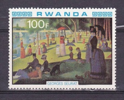 T] Timbre ** Stamp ** 1980 Peinture Impressionisme Painting Impressionism Georges Seurat - Impressionisme