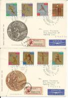OLI172 -OLIMPIADI TOKIO 1964 - 2 BUSTE POLONIA SERIE COMPLETA MEDAGLIE OLIMPICHE - Summer 1964: Tokyo