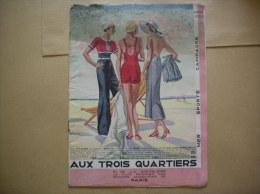 AUX TROIS QUARTIERS CATALOGUE MER SPORTS CAMPING 1933   16 PAGES - Publicités