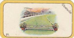 Carreras Cigarette Card Greyhound Racing Game No 21 Obstacle - Cigarette Cards