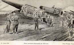 CPA  GUERRE  DE  1914 . DEUX  MORTIERS  ALLEMANDS DE  350 - Weltkrieg 1914-18