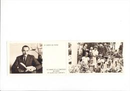 Double Carte Du Comte De Paris  La Comtesse De Paris Et Ses Huit Enfants ( Format Déplié 26,8 X 8 Cm ) Recto Verso - Frankrijk