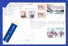 ENVELOPPE  RECOMMANDÉ Nº 2461 PAR AVION   -- CACHET MONTRÉAL QC - 4.XII.1986  -  2 SCANS - Lettres & Documents