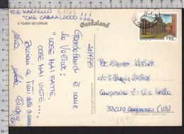 B9263 Italia Storia Postale 1995 TURISTICA VENOSA Lire 750 GARDALAND VELIERO DEI CORSARI - 6. 1946-.. Repubblica