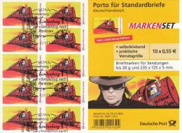 281o DEUTSCHLAND GERMANY ALEMANIA 10x55 SONDERZUG NACH PANKOW Gestemplet - Postzegelboekjes
