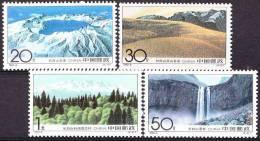 China 1993 Yvert 3175 / 78, Mount Changbai, MNH - 1949 - ... Volksrepublik