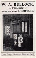 LICHFIELD . W.A. BULLOCK SHOP FRONT. PHONEY CARD - Non Classés