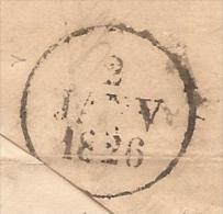 Dateur A - 2 Janvier 1826 - 2eme Jour D'utilisation - Mis En Service Le 1er - Utilise En Arrivee A Marseille - 1801-1848: Voorlopers XIX