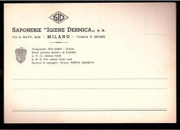 C2771 Cartolina Commerciale - Saponerie Igiene Dermica - Milano Porta Genova  / Non Viaggiata - Vari