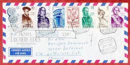 Luftpost, Einschreiben Reco, Bunte Frankatur, Torremolinos Nach Le Vesinet, AK-Stempel 1967 (40472) - 1931-Heute: 2. Rep. - ... Juan Carlos I