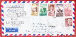 Luftpost, Einschreiben Reco, Bunte Frankatur, Torremolinos Nach Le Vesinet, AK-Stempel 1968 (40473) - 1931-Heute: 2. Rep. - ... Juan Carlos I