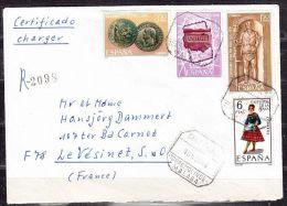 Einschreiben Reco, Bunte Frankatur, Torremolinos Nach Le Vesinet, AK-Stempel 1968 (40474) - 1931-Heute: 2. Rep. - ... Juan Carlos I