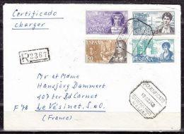 Einschreiben Reco, MiF Frauen, Torremolinos Nach Le Vesinet, AK-Stempel 1968 (40475) - 1931-Heute: 2. Rep. - ... Juan Carlos I