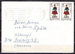 Brief, MeF Tracht, Torremolinos Nach Freiburg 1968 (40476) - 1931-Heute: 2. Rep. - ... Juan Carlos I