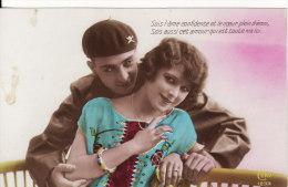 Carte Postale Photo Militaire Français-Fantaisie-Régiment Char De Combat-R.C.C.- - Personen