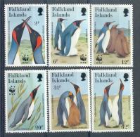 MR117s6 WWF VOGELS PINGUINS BIRDS PENGUINS VÖGEL AVES OISEAUX FALKLAND ISLANDS 1991 PF/MNH - W.W.F.