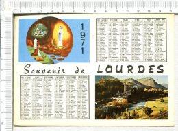 LOURDES -  Souvenir   1971  -  2 Vues Et Calendrier - Lourdes