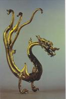 Chinese Relics Gold Coated Dragon Tang Dynasty Splendid China Ki