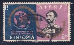 Ethiopia, Scott # 507 Used World Map,Peace, 1968, Major Thin, Space Filler - Ethiopia