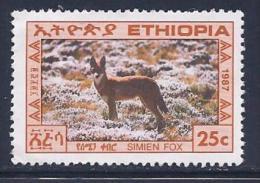 Ethiopia, Scott # 1182 Unused No Gum Simian Fox, 1987 - Ethiopia