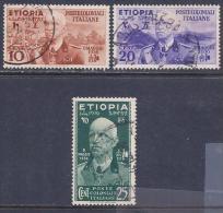 Ethiopia, Scott # N1-3 Used Victor Emmanuel Lll, 1936 - Ethiopia