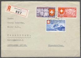 Schweiz - R - Brief  22.II.1939 / Aarau 1 Nach Osnabrück (Germany) / Siehe Fotos - Briefe U. Dokumente