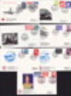 Groupe De 7 Enveloppes Et Cachets Commémoratifs Croix-Rouge Danoise 1982-90 - Cartas
