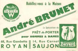 BUVARD VETEMENTS ANDRE BRUNET ROYAN SAUJON PRET A PORTER  WEILL BAYARD - Textile & Clothing
