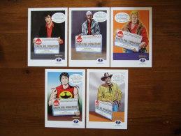 Tex, Zagor, Dylan Dog, Martin Myster Lot De 5 Cartes Postales - Comics