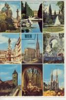 WIEN / VIENNA - Mehrfachansicht,   Karlskirche, Rathaus, Pestsäule, Ruprechtskirche ..... - Wien