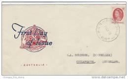 Australia-1965 QEII 5d Red Addressed FDC - Ersttagsbelege (FDC)
