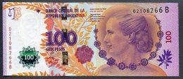 100 Pesos Série B N°02108266 UNC Billet Entièrement Remanier Voir Description. - Argentinien