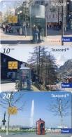 TELECARTES  SUISSE  CHF5/CHF10/CHF20  Cabines Téléphone  Téléphone Booths   (lot De 3) - Schweiz