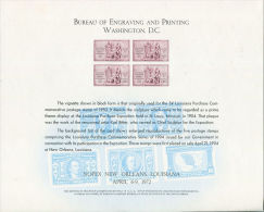 CB0163 United States 1972 Louisiana Exhibition Engraver Proof MNH - Proofs, Essays & Specimens