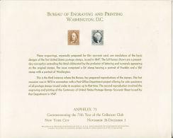 CB0164 United States 1971 Washington And Franklin Engraver Proof MNH - Proofs, Essays & Specimens