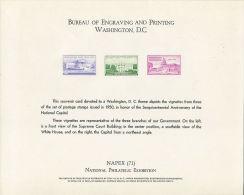 CB0170 United States 1971 Washington Stamp White House Capitol Building Engraver Proof MNH - Proofs, Essays & Specimens