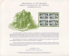CB0171 United States 1973 Columbus Engraver Proof MNH - Proofs, Essays & Specimens