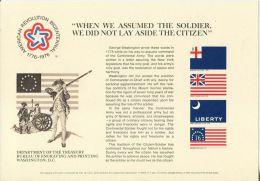 CB0173 United States 1976 Independence Day Flag Evolution Engraver Proof MNH - Proofs, Essays & Specimens