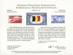 CB0180 United States 1972 Belgium Flag Exhibition Patton Engraver Proof MNH - Proofs, Essays & Specimens