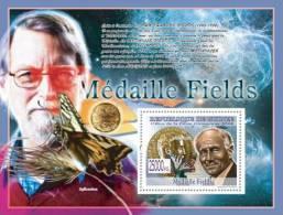 gu0876a Guinea 2008 Fields Medal s/s Laurent Scwartz Butterflies David Mumford