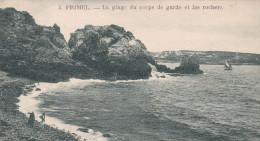 PRIMEL. LA PLAGE DU CORPS DE GARDE ET LES ROCHERS(dil82) - Primel