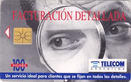 Argentina, ARG-TLC-034C,  Facturacion Detallada, 2 Scans. - Argentina