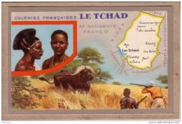 COLONIES FRANCAISES - LE TCHAD - CHASSE - BUFFLE - �diteur LION NOIR